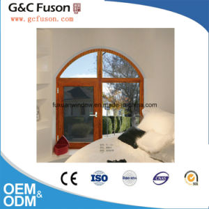Arc Roof Aluminum Casement Window with Mirror Glass pictures & photos