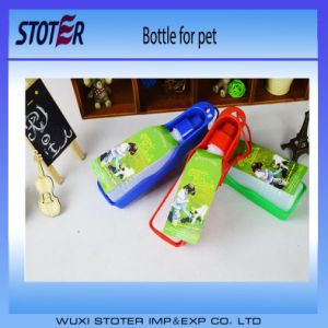 Pet Drinker Products Easy to Carry Plastic Pet Drinker Bottle for Travel, Pet Travelling Water Dispenser