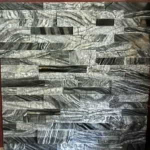 Black Grey Slate Rough Cultural Stone for Wall Clading pictures & photos