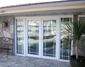 Aluminum Folding Door Double Glass System pictures & photos