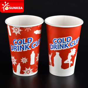 Cold Drinking Paper Cup with Plastic Lids pictures & photos