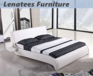Ck002 Double Size Leather Bed with Smal Trays pictures & photos