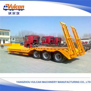 Hot Selling! 3 Axles Low Bed Semi Trailer Shipyard Transporter