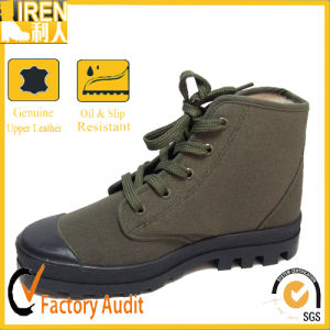 China Cheap Price high Quality Training Shoes Military Canvas Shoes pictures & photos