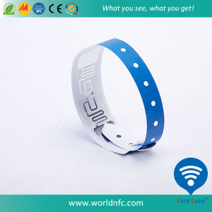 One Time Paper/ Soft PVC RFID Wristband pictures & photos
