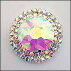 Round Sew on Rhinestones Crystal Rhinestone Ab pictures & photos