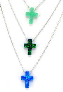 Fashion 925 Silver Cross Opal Necklace Jewelry (N6502) pictures & photos