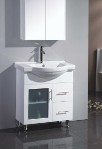 High Quality Semi Round MDF Bathroom Vanity with Glass (SW-A450LG) pictures & photos