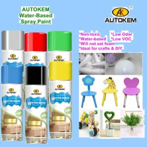 Water Soluble Spray Paint, Water Based Aerosol Paint, Multi-Purpose Spray Paint, Acrylic Spray Paint, Environmentally Friendly, Lead Free pictures & photos