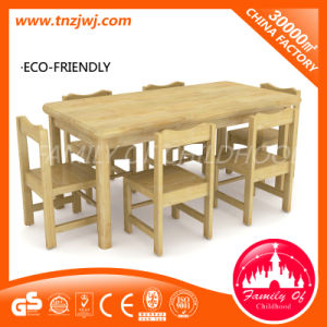 Long Oak Table Chair Classroom Wooden Furniture pictures & photos