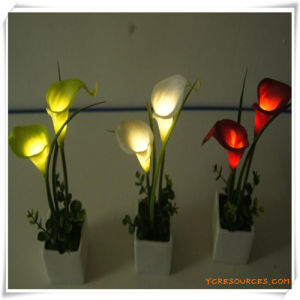 Mini Calla LED Artificial Flowers with Ceramics Pot for Promotion pictures & photos