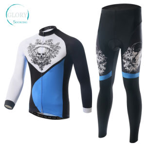 100% Polyester Man′s Knit Cycling Jersey pictures & photos