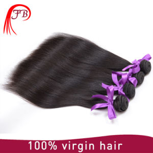 Brazilian Hair Virgin Human Hair Extensions Straight Hair in Stock pictures & photos