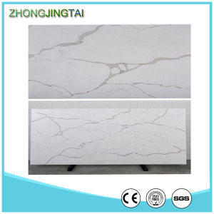 Carrara White 30mm Thickness Artificial Marble Quartz Slab pictures & photos