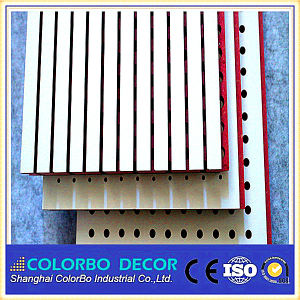 Wooden Grooved Acoustic Panel with MDF for Wall Decoration pictures & photos