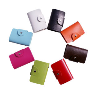 PU Leather 24 Pages Card Bag Card Holder pictures & photos
