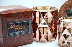 Round Tin Scented 340g Soy Candle with Three Wicks pictures & photos