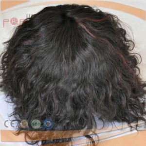 Curly Type Poly Border Mens Toupee pictures & photos