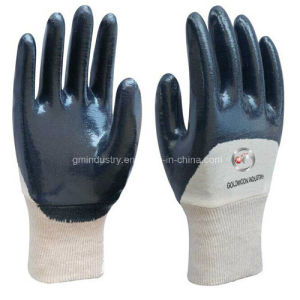 Orange Nitrile Palm Coated Gloves pictures & photos