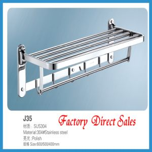 Sanitary Ware Chroming Color Bathroom Towel Rack (J35) pictures & photos