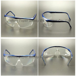 Adjustable Legs Wraparound Lens Safety Glasses (SG116) pictures & photos