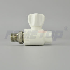 PPR Straight Male Radiator Ball Valve pictures & photos