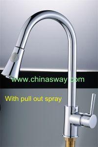 Kitchen Sink Faucet, Movable and Retractable Spout (SW-09570) pictures & photos