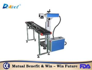 High Precision Fly Fiber Laser Marking Machine for PP/PE Product pictures & photos