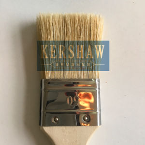 Paint Brush (paintbrush, pure white bristle flat brush with soft wood handle) pictures & photos