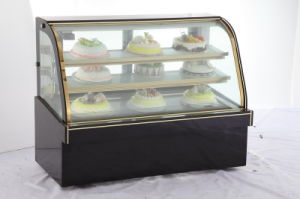 1.2m1.8m2.0m Luxury Arc Glass Cake Display Freezer Refrigerator Showcase pictures & photos
