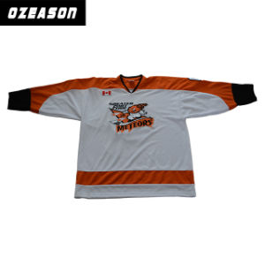Design Custom Logo Embroidery Kids Hockey Jerseys (H005) pictures & photos