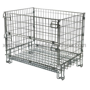 Standard Euro Pallet Cage Wire Formed Collapsible Storage Mesh Container pictures & photos