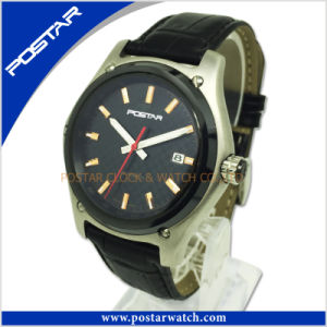 Manufacturer Custom Logo OEM Brand Sport Men′s Leather Watch with High Quality pictures & photos