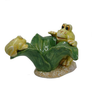Garden Decoration Lovely Ceramic Frog Plate Crafts pictures & photos