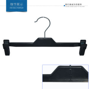 Custom Black Plastic Clips Bottom Hanger for Brand Stores pictures & photos