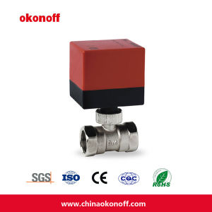 3-Way High Quality Ball Valve 24V (DQ320-24) pictures & photos