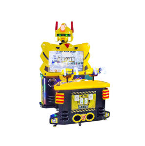 New Arrival Yellow Robot Coin Operated Arcade Shooting Game Machine pictures & photos
