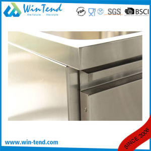 Commercial Stainless Steel Full Rounded Kitchen Pedestal Sink with Backsplash pictures & photos