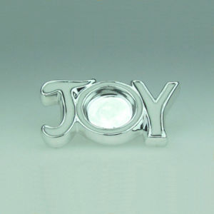 New Design The Letters Silver Electroplating Isolation Ceramic Candle Holder pictures & photos