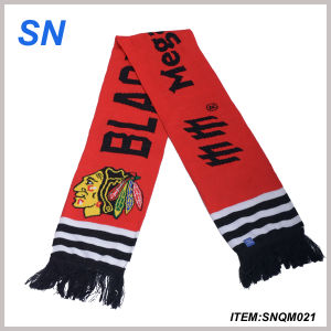 2015 China OEM Fashion Knitted Football Scarf pictures & photos