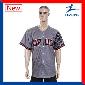 Healong Dye Sublimation Heat Transfer Imprinting Cheap Baseball Jerseys pictures & photos