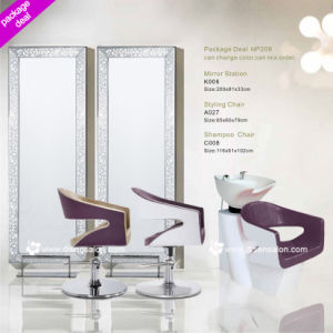 Mirror Station, Barber Chair, Shampoo Chair, Washing Unit, Styling Chair (Package Deal NP209)