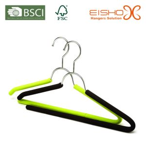 Garment Usage Soft Foam Metal Suit Hanger (TP810) pictures & photos
