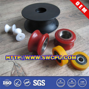 High Precision Nylon PP Delrin Plastic Rope Guide Pulley (SWCPU-P-W070) pictures & photos