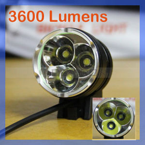 CREE LED Xm-L T6 LED 3600lm Bicycle Light Zoomable Headlamp+Battery+Charger pictures & photos