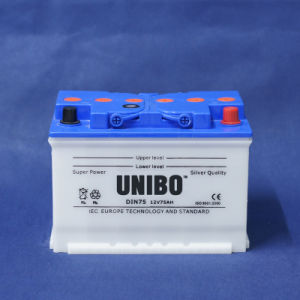 Car Battery High Battery DIN Standard Dry Charged DIN75 12V75ah pictures & photos