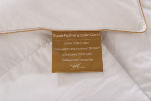 Five Star Hotel Super Soft Cotton Cover Filling Down Quilt pictures & photos