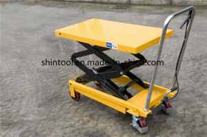 350kg Mini Scissor Lift Table Sps350 with Max. Height 1300mm pictures & photos