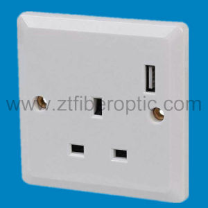 UK Electrical Socket with USB Charger