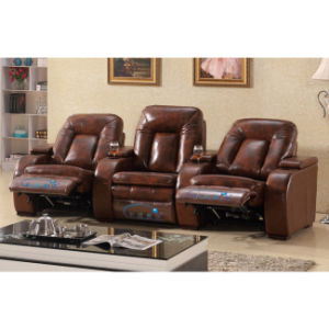 2016 Real Leather VIP Cinema Recliner Sofa 6051TV pictures & photos
